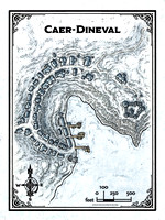 Rime of the Frostmaiden; Caer-Dineval (Battle Map Print)