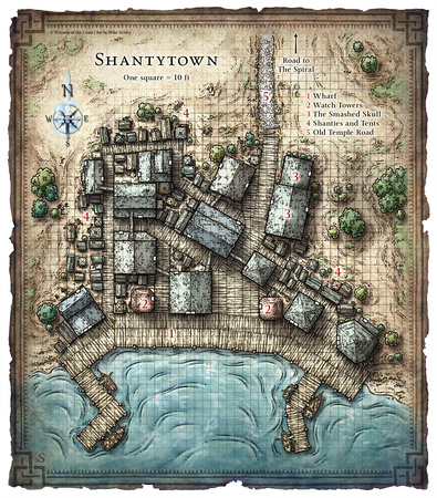 Dng 208 - Captain Slygo's Treasure; Shantytown (Digital DM & Player Versions)