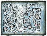 Glacial Rift of the Frost Giant Jarl; Map 2 (Digital DM & Player Versions)