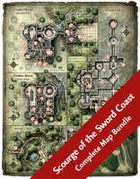 Scourge of the Sword Coast (7 Digital DM & Player Maps) $10