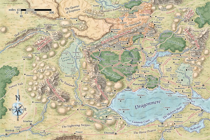 Mike schley forgotten realms regional maps gumiabroncs Image collections