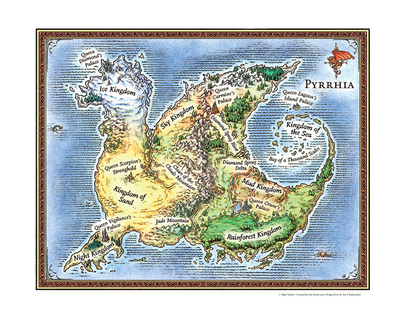 Mike Schley | Cartography Prints | Wings of Fire (Artist's Print)