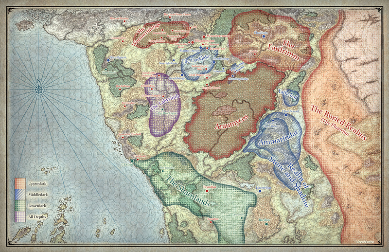 Mike Schley Forgotten Realms Regional Maps