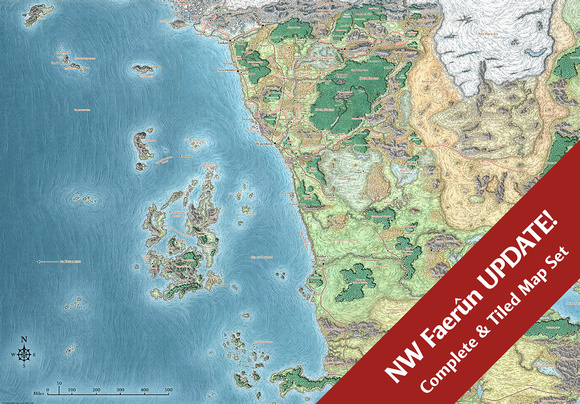 Mike schley forgotten realms regional maps northwest faern sword coast adventurers guide 5e digital gumiabroncs Image collections