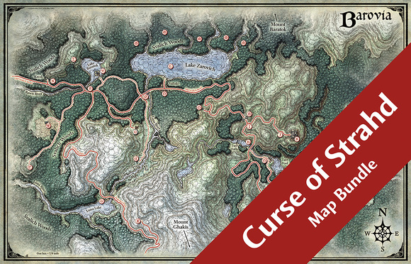 Curse of Strahd Map Bundle (28 Digital DM & Player Maps) $30