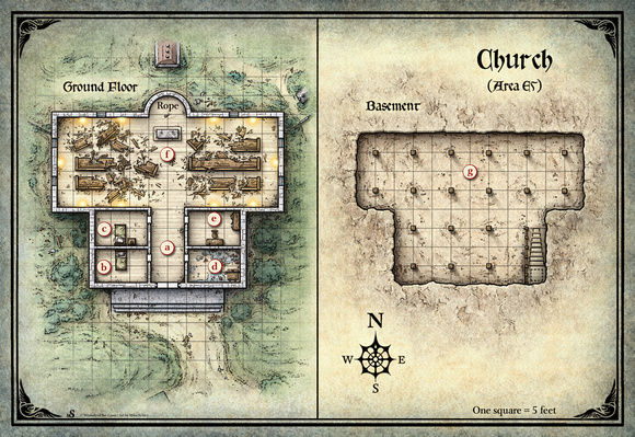 Mike Schley Map Downloads Curse Of Strahd Church