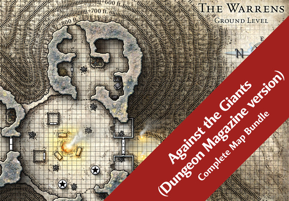 Against the Giants; Dungeon Magazine version (14 Digital DM & Player Maps) $15