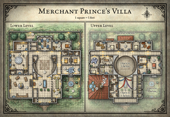 Tomb of Annihilation; Merchant Prince's Villa - 5E (Digital DM & Player Versions) Free!