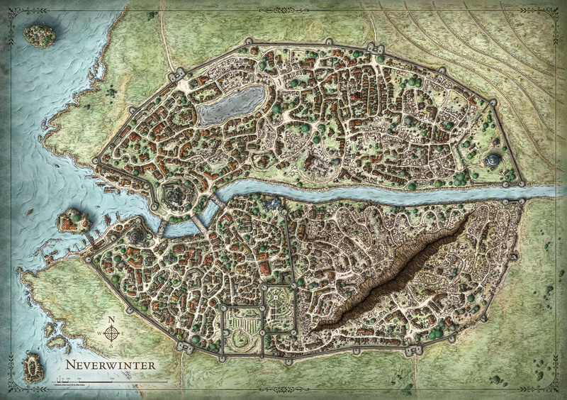 mike schley fantasy city maps