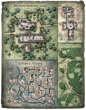 Scourge of the Sword Coast; Phylund Hunting Lodge (Digital DM & Player Versions)