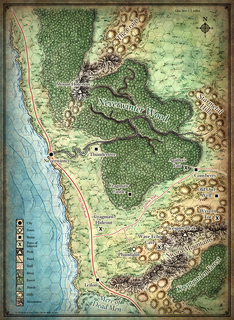 Dd 4e World Map.Mike Schley Forgotten Realms Regional Maps