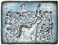 Glacial Rift of the Frost Giant Jarl; Map 1 (Digital DM & Player Versions)