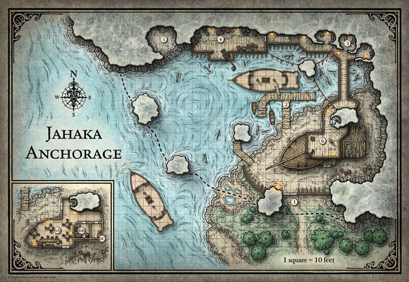 Tomb of Annihilation; Jahaka Anchorage - 5E (Digital DM & Player Versions) $2