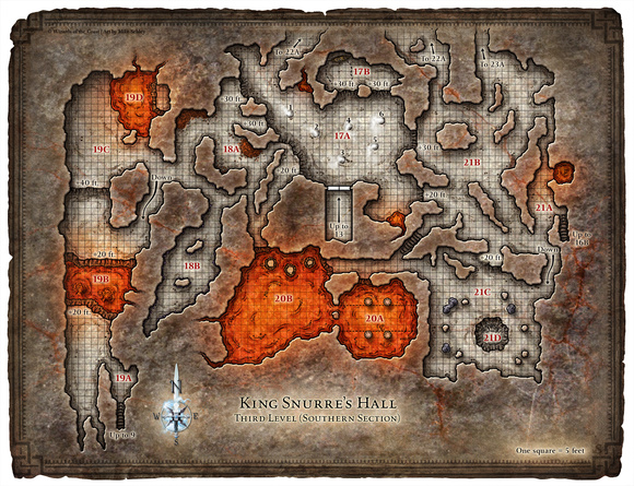 Hall of the Fire Giant King; Map 3 (Digital DM & Player Versions)