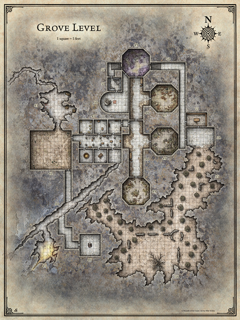 It is a graphic of Sunless Citadel Printable Map intended for burial mound
